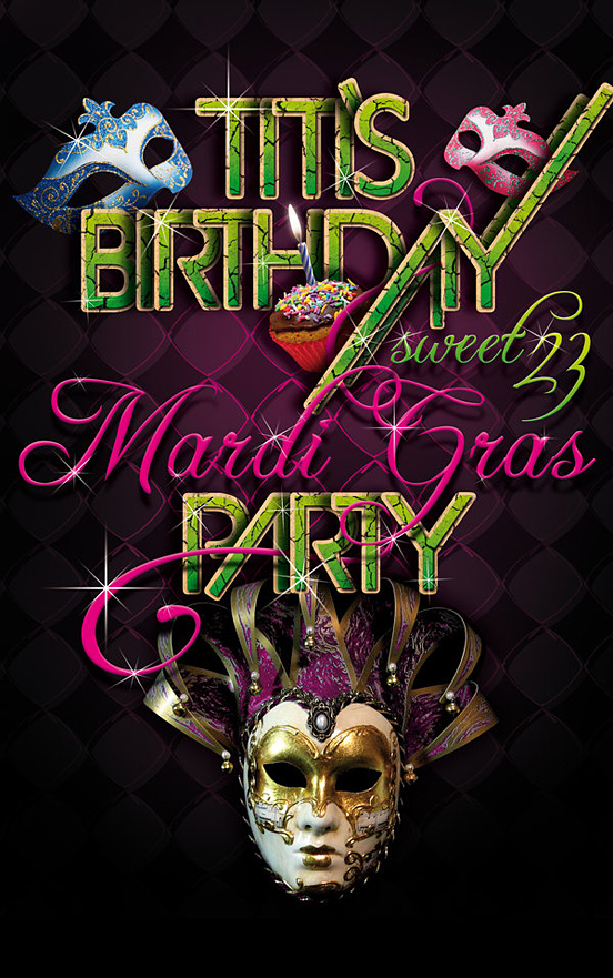 Mardi Gras l1 40 Remarkable Examples Of Typography Design #5
