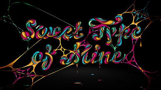 Sweet type of mine l1 40 Remarkable Examples Of Typography Design #5