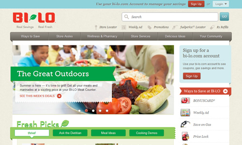 Bi Lo 45 Outstandingly Well Designed E commerce Websites