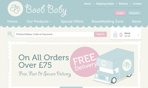 Boob Baby 45 Outstandingly Well Designed E commerce Websites