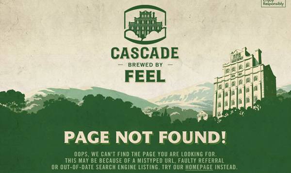 Cascade Brewery Co 40 Clever Yet Creative 404 Error Designs