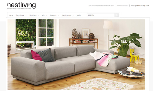 Nestliving 45 Outstandingly Well Designed E commerce Websites