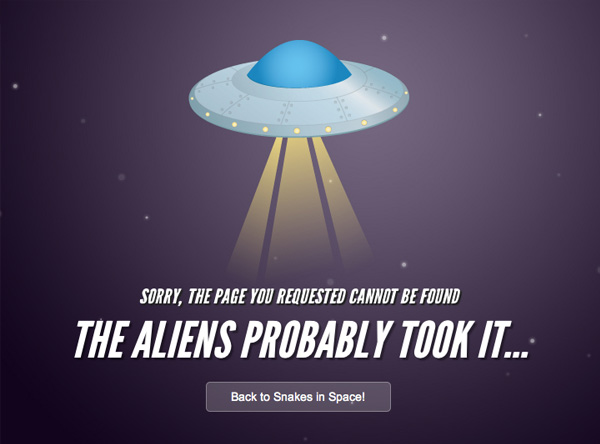 Snakes in Space 40 Clever Yet Creative 404 Error Designs