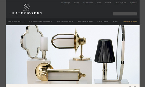 Water Works 45 Outstandingly Well Designed E commerce Websites