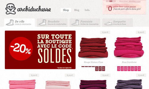 archiduchesse 45 Outstandingly Well Designed E commerce Websites