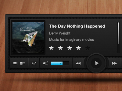 audio player1 50 Jaw Dropping Freebies from the Dribbble Community