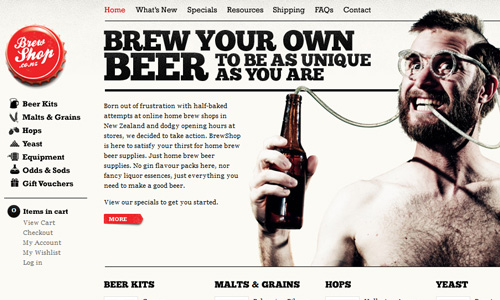 brewshop 45 Outstandingly Well Designed E commerce Websites
