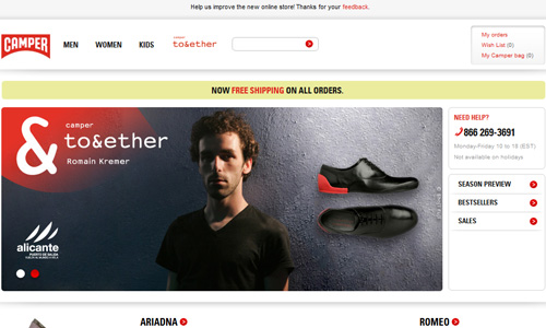 camper 45 Outstandingly Well Designed E commerce Websites