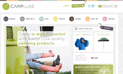 campluxe 45 Outstandingly Well Designed E commerce Websites