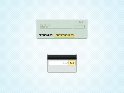 check and credit card1 50 Jaw Dropping Freebies from the Dribbble Community