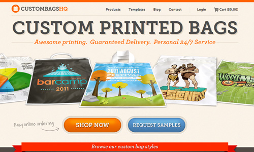 custombagshq 45 Outstandingly Well Designed E commerce Websites