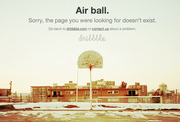 dribbble 40 Clever Yet Creative 404 Error Designs
