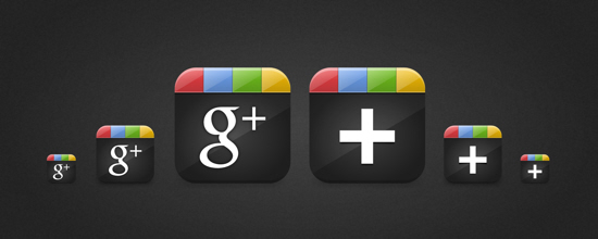 google plus icons1 10 Free Beautiful Sets of Google+ Icons