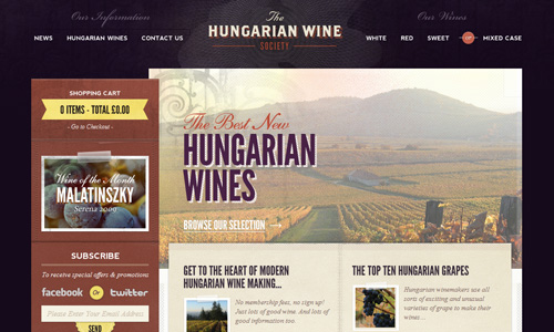 hungarianwinesociety 45 Outstandingly Well Designed E commerce Websites