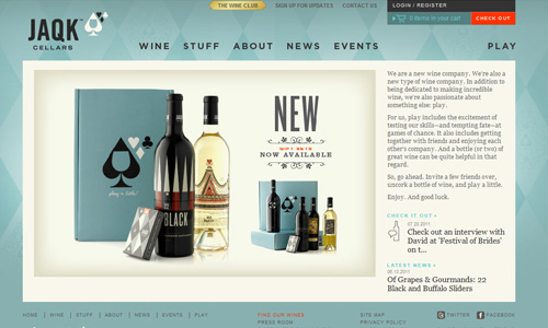 jaqkcellars 45 Outstandingly Well Designed E commerce Websites