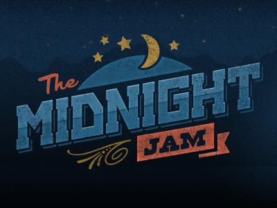 midnight jam1 50 Striking Vintage and Retro Logo Designs