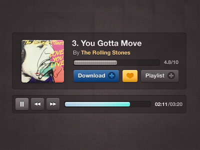 musicplayer dribbble1 50 Jaw Dropping Freebies from the Dribbble Community