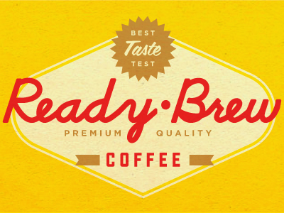 ready brew1 50 Striking Vintage and Retro Logo Designs