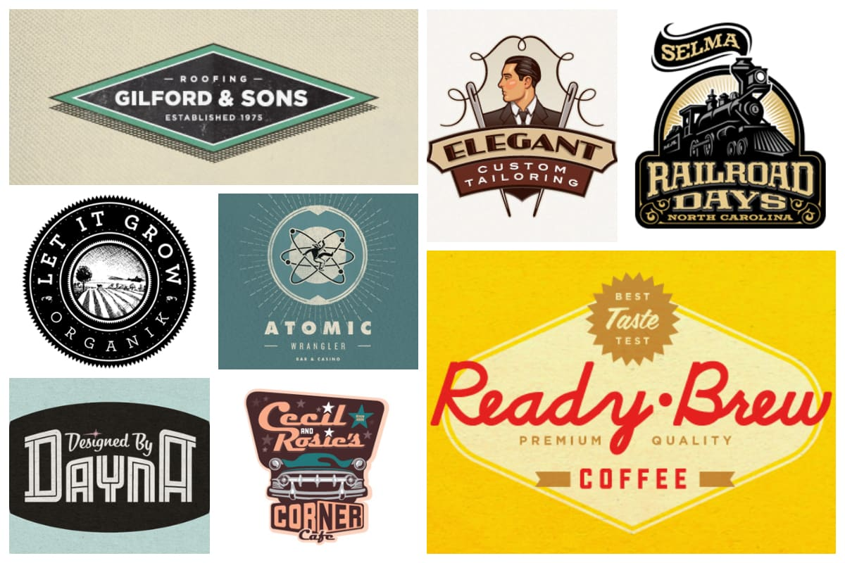 50 Striking Vintage And Retro Logo Designs Inspirationfeed