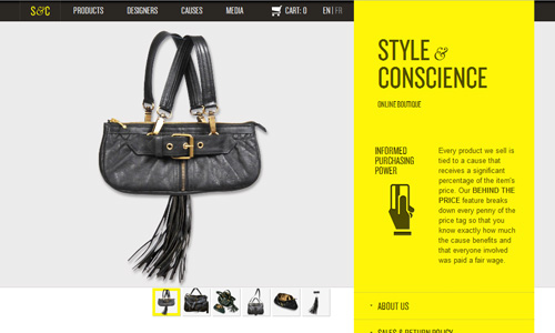 styleandconscience 45 Outstandingly Well Designed E commerce Websites