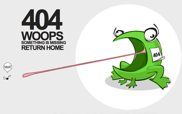 tchikito 40 Clever Yet Creative 404 Error Designs