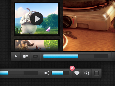 video player1 50 Jaw Dropping Freebies from the Dribbble Community