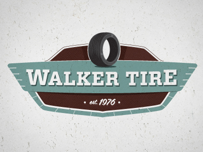 walkertire colorcombo21 50 Striking Vintage and Retro Logo Designs