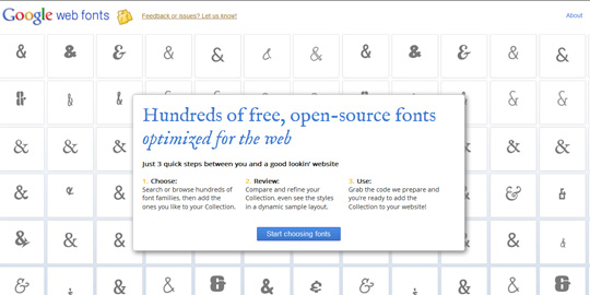 google fonts 01 Create a Blog with Attitude by Using Google Web Fonts