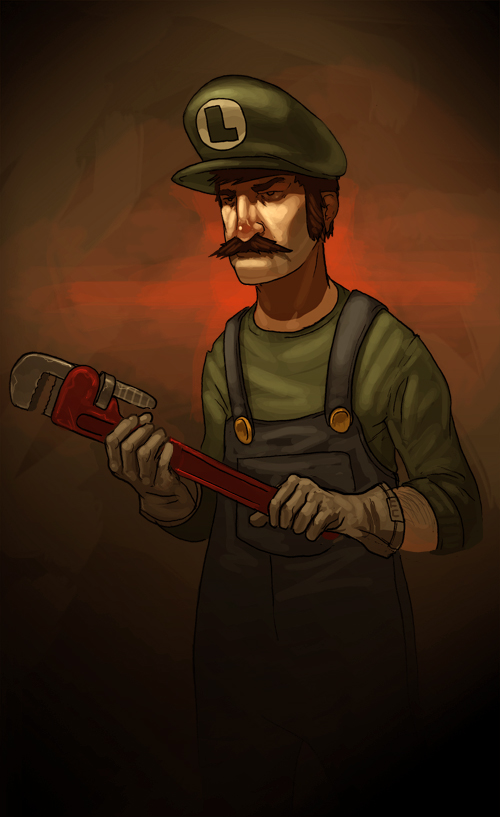 LAWHEEGEE by MikePMitchell1 50 Incredible Super Mario Bros Artworks