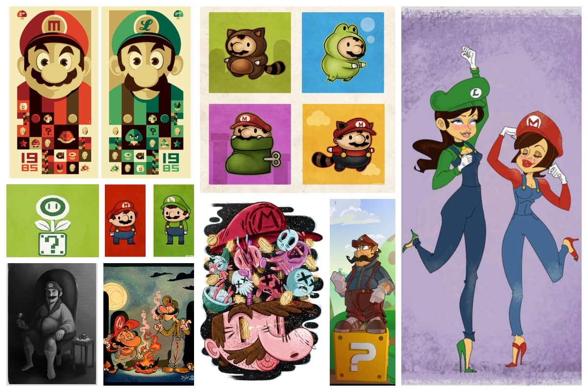 50 Incredible Super Mario Bros Artworks Inspirationfeed