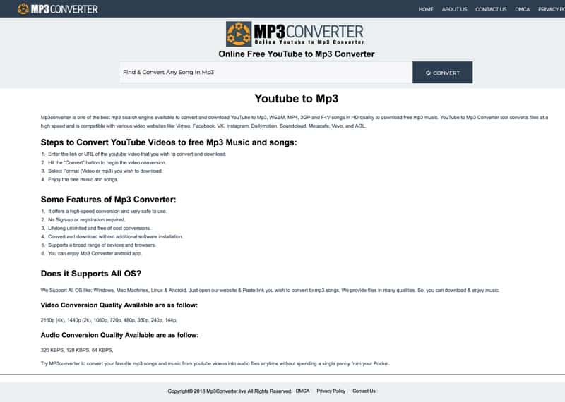 MP3 Converter - Youtube to MP3 Converter