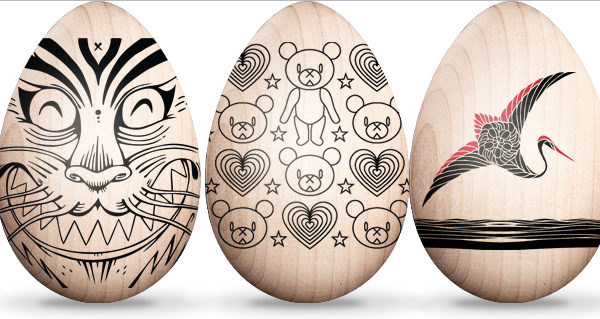 wooden easter eggs 30 Creative Examples of Easter Egg Designs