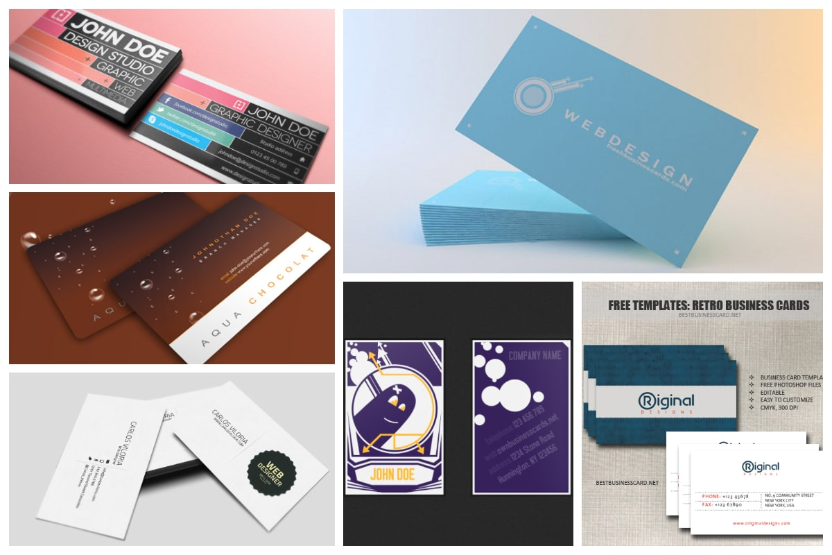 21 Free Business Card Templates - Inspirationfeed With Plain Business Card Template Microsoft Word