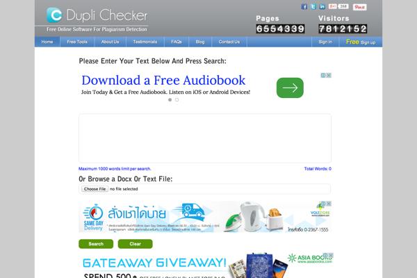 essay plagiarism checker free online