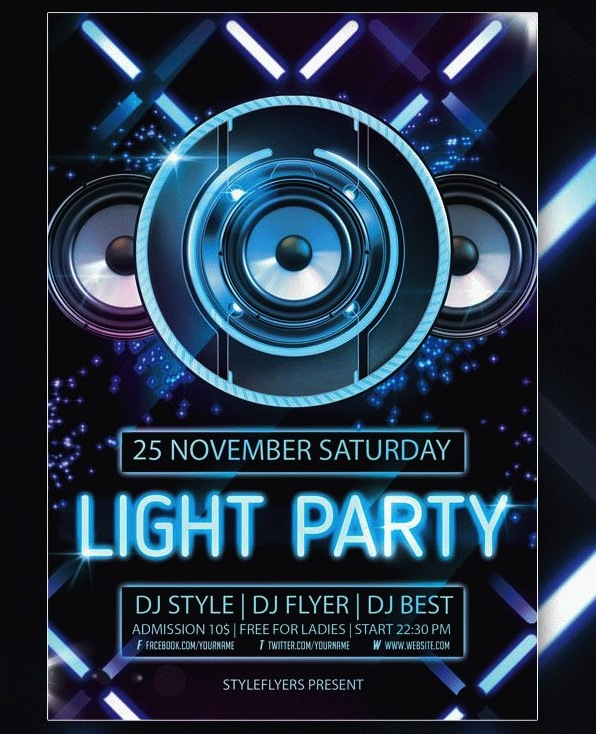 light-party-flyer