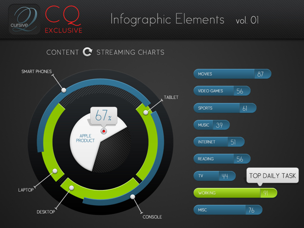 CQ Infographic Elements vol 1