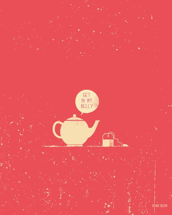 Tea bag & Teapot