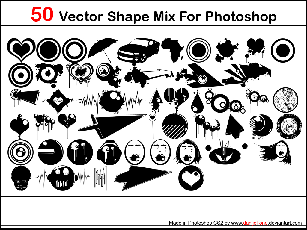 50 vector shapes