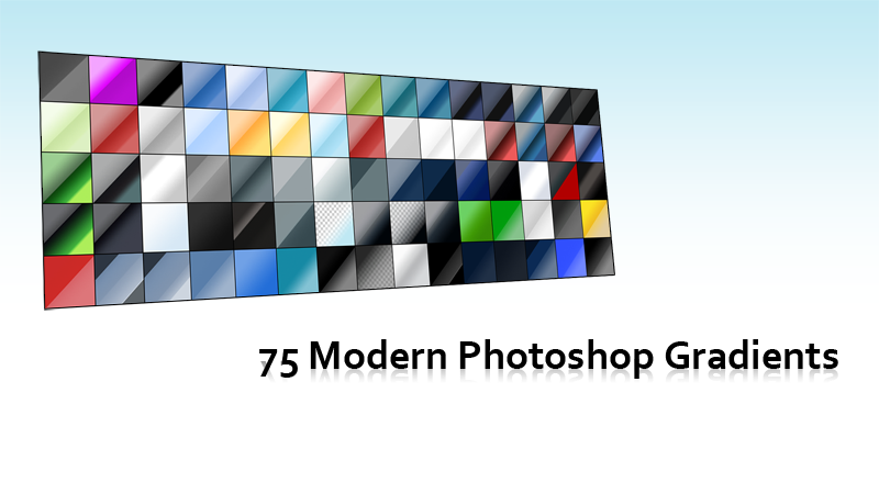 75 Modern Photoshop Gradients