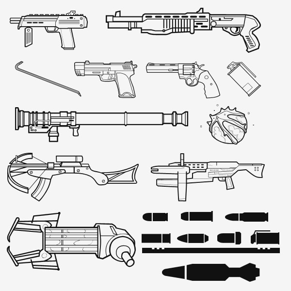 half_life_2_weapon_shapes_by_zeptozephyr1-min
