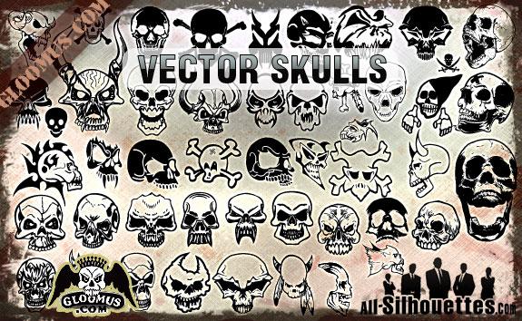 vector-skulls-clipart