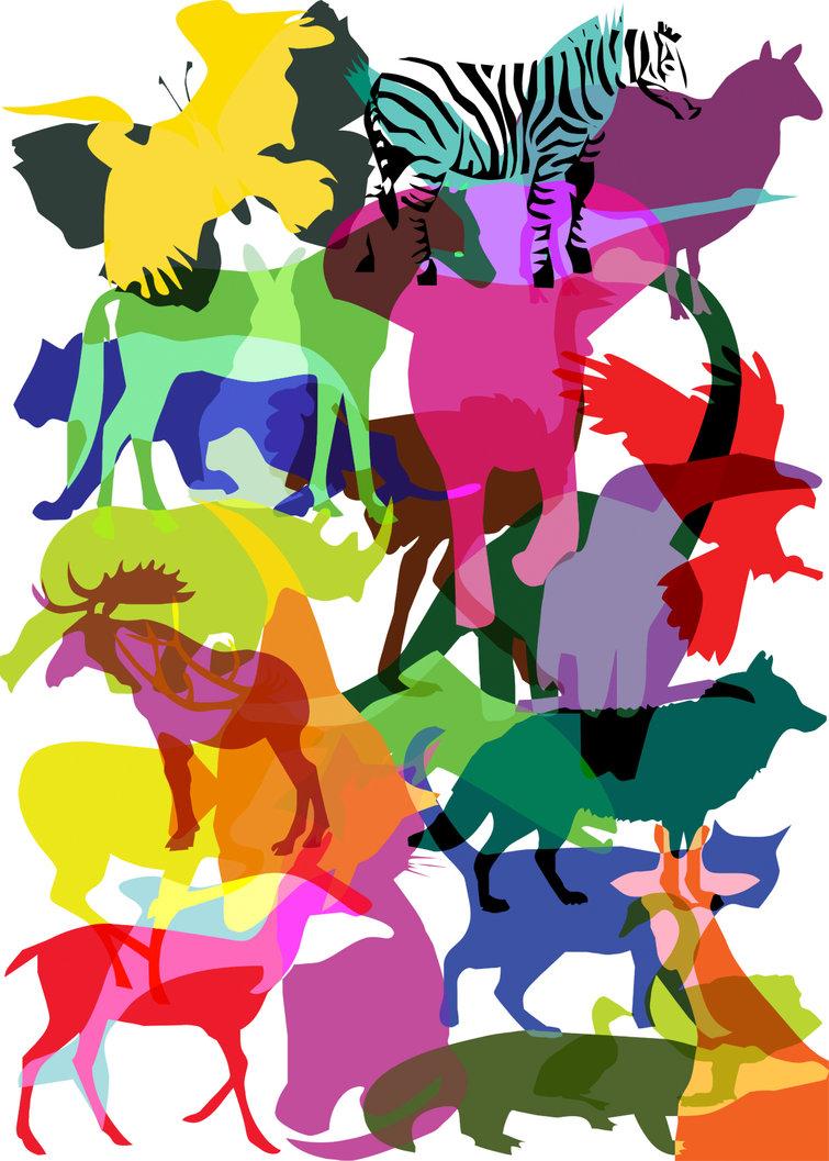wild animal shapes