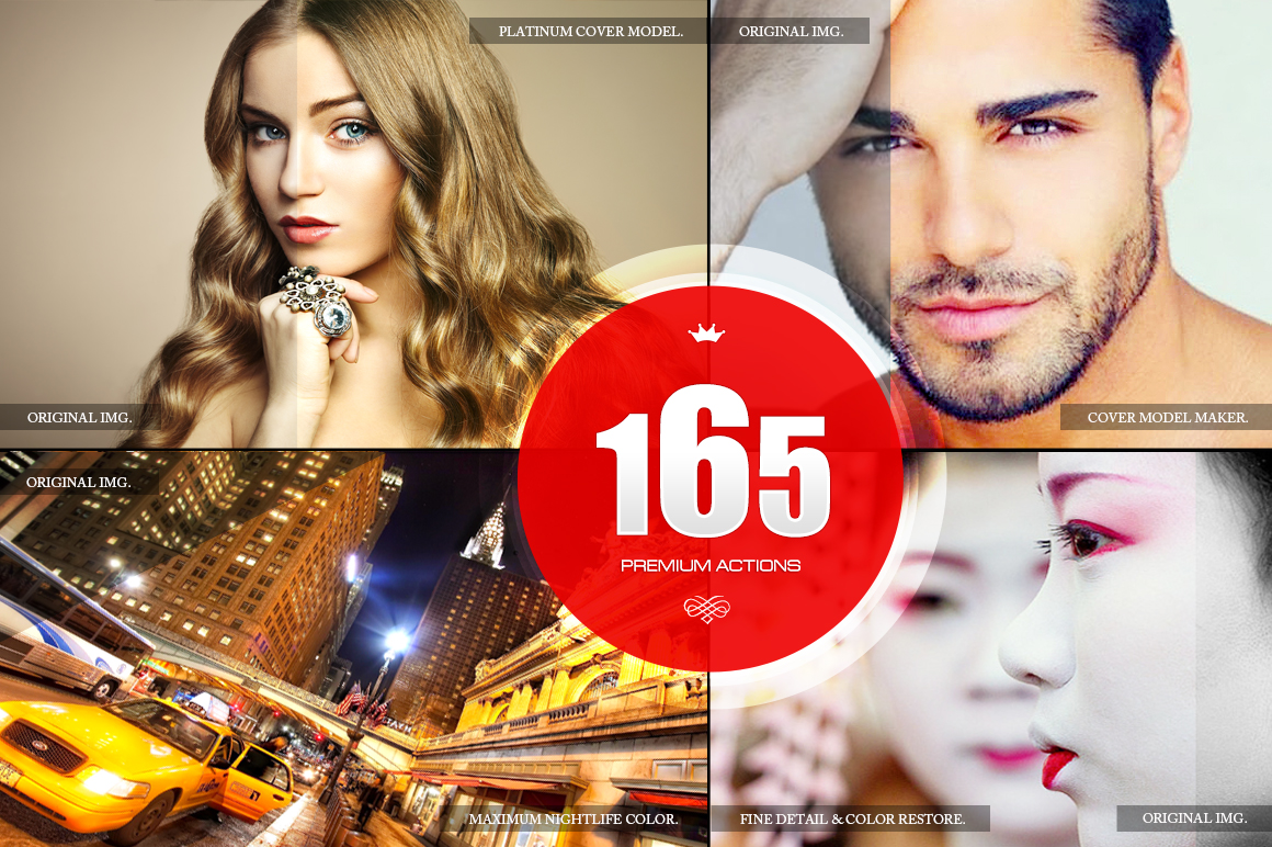 165 Premium Photoshop Actions