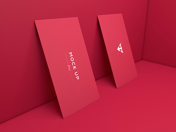6 Business Cards Mock Up