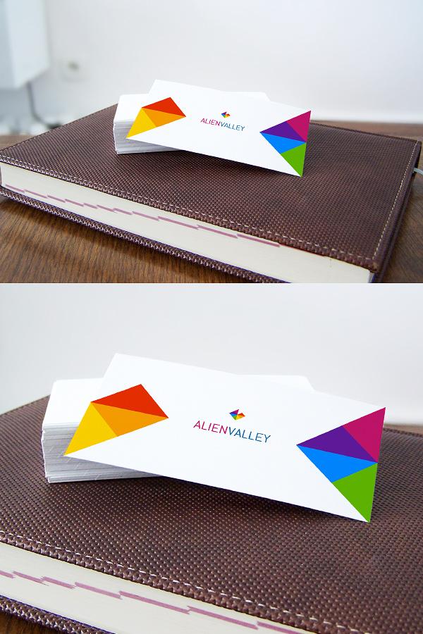 Business Card On Agenda