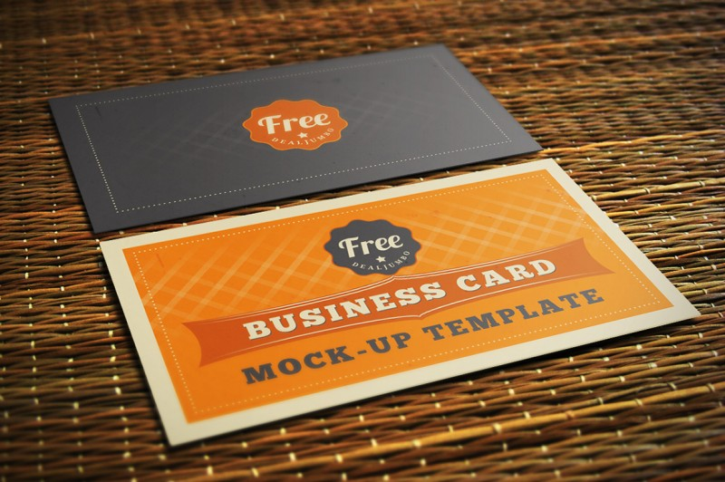 Free Business Card Mock-up Template