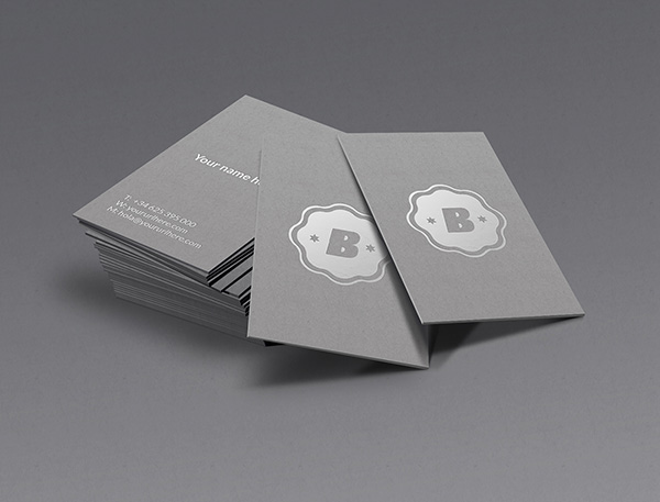 Silver Business Card Mockup by José Polanco