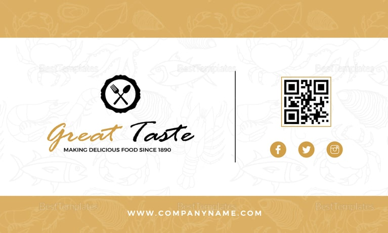 Restaurant Chef Business Card Template