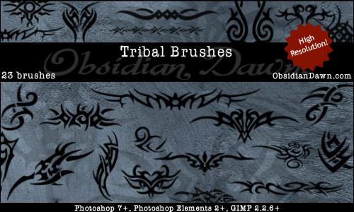 23 Tribal Photoshop Brushes