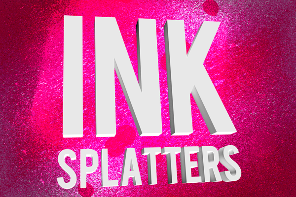 45 high resolution ink splatter Photoshop brushes.